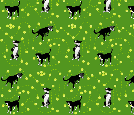 Lola_Plays_With_Tennis fabric by roxiespeople on Spoonflower - custom fabric