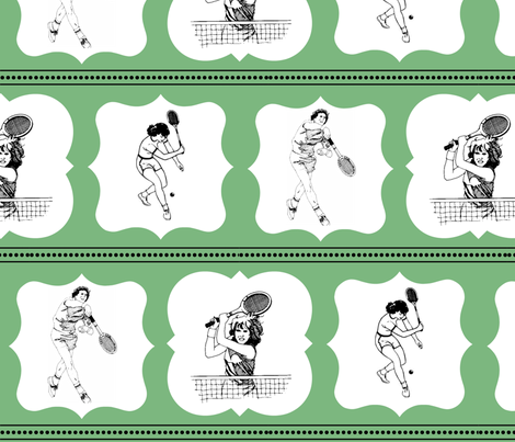 Vintage Tennis fabric by spool_of_sugar on Spoonflower - custom fabric