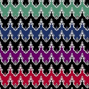Rainbow Lace Chevrons
