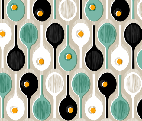 Racquets fabric by mariaspeyer on Spoonflower - custom fabric