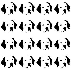 dog labrador small in a row