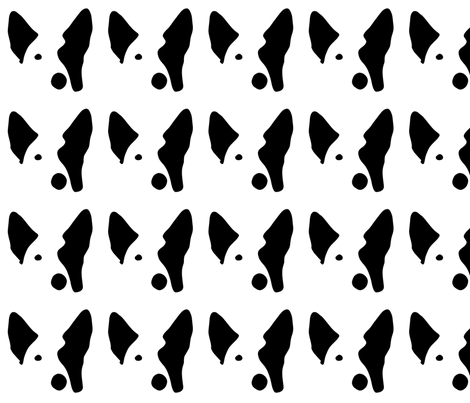 german shepherd small in a row fabric by mariafaithgarcia on Spoonflower - custom fabric