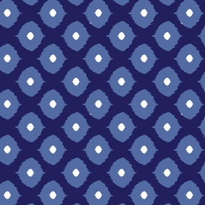 Ikat Eyes navy and dusk-ch
