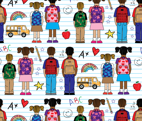 Ready For School fabric by designs_by_lisa_k on Spoonflower - custom fabric