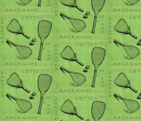Tennispoons fabric by tonibaloney on Spoonflower - custom fabric