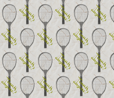 Tennis Anyone? fabric by eyeswideshut28 on Spoonflower - custom fabric