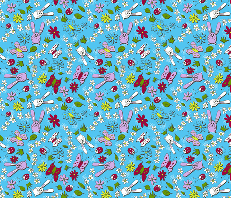 Bunny Summer fabric by karapeters on Spoonflower - custom fabric