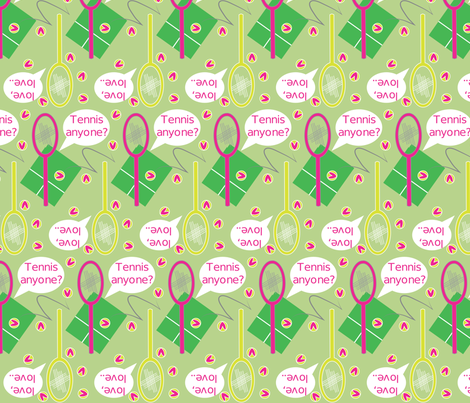 tennis fabric by wirth on Spoonflower - custom fabric