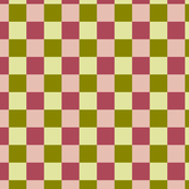 Dusty Rose & Olive Green Checkered Pattern