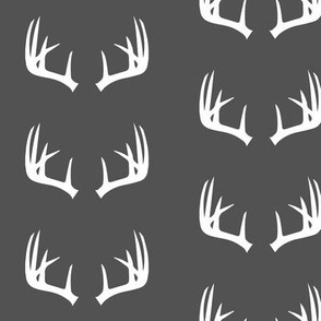 antlers on charcoal // Woodland collection