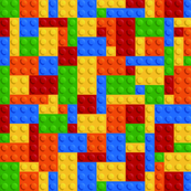 Colored Building Blocks - Medium