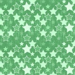 Crackle Stars - Green