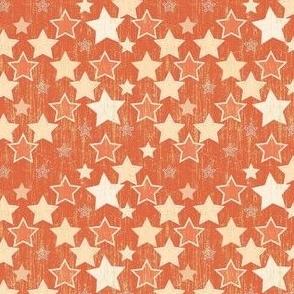 Crackle Stars - Orange