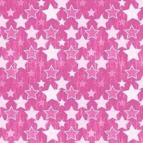 Crackle Stars - Pink