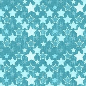Crackle Stars - Turquoise