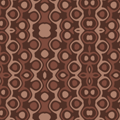 Shades of Brown Monochrome Abstract Design