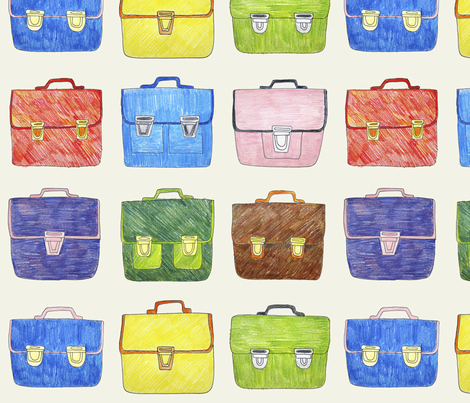Hand Drawn School Bags fabric by marketa_stengl on Spoonflower - custom fabric