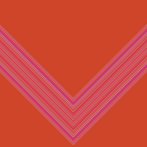 Orange and Pink Chevron