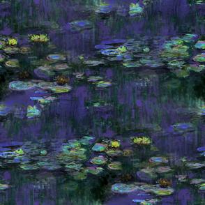 Claude Monet ~ Waterlilies ~ At Night ~ Large