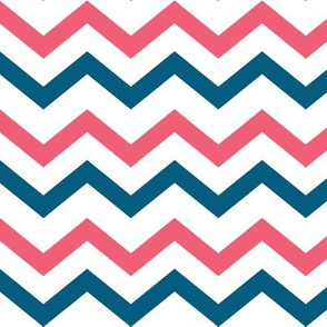 Coral & Teal Chevron