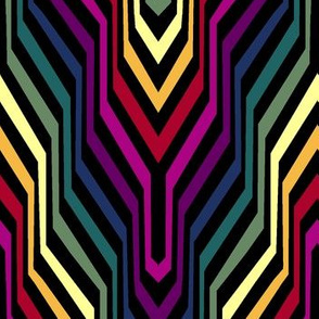 Rainbow Garden Carpet Chevron