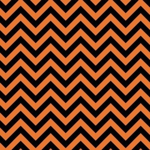 Halloween-Orange & Black ZigZag