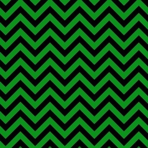Halloween - Green & Black ZigZag