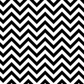 Halloween - White & Black ZigZag