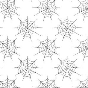 Thin Spider Webs - Black on White