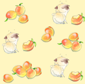 Peaches and Pugs (scattered version)