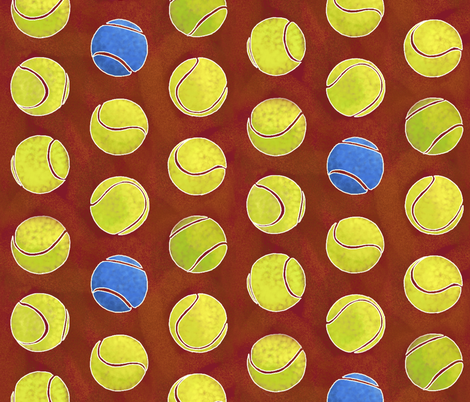 clay court fabric by nlsd on Spoonflower - custom fabric