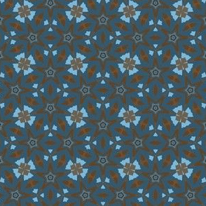 Blue and Brown Geometric