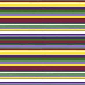 Purple flower stripe