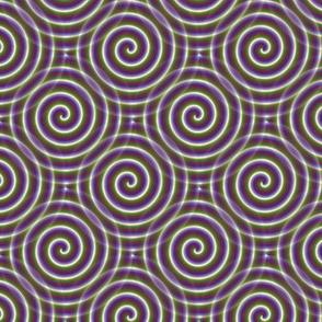 Purple flower spiral