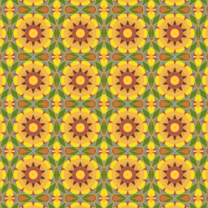 Summery Yellow Kaleidoscope