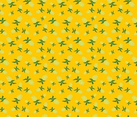 pina colada piney pineapple yellow fabric pjedwards spoonflower. Black Bedroom Furniture Sets. Home Design Ideas