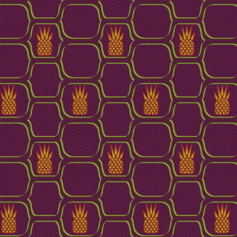 pineapple netting purple gold green