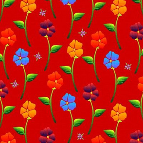 bouquet carpet red