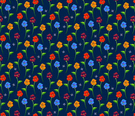 bouquet carpetb blue