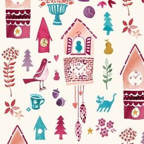 Sweet Pink Cuckoo Clock