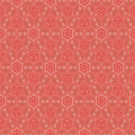 Peach Hexagon Geometric