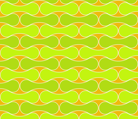 Tessellated Tennis Balls citrus fabric by wiccked on Spoonflower - custom fabric