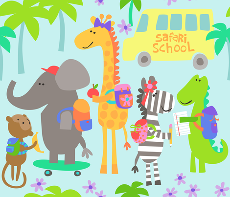 Safari School fabric by bzbdesigner on Spoonflower - custom fabric