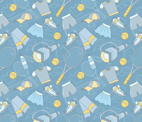Tennis-01 fabric by milta on Spoonflower - custom fabric