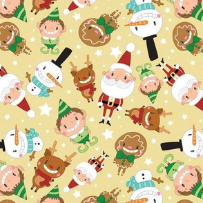Christmas Crew - Yellow - Scattered - Large