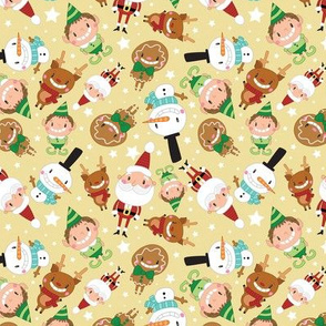 Christmas Crew - Yellow - Scattered - Medium