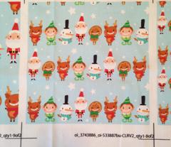 Christmas Crew - Blue - Line - Medium