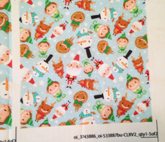 Christmas Crew - Blue - Scattered - Medium