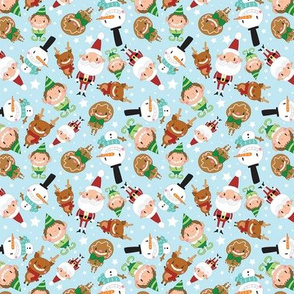 Christmas Crew - Blue - Scattered - Small