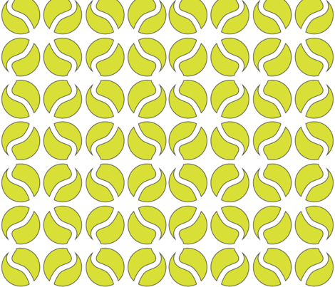 Tennis Ball fabric by nippercloth on Spoonflower - custom fabric